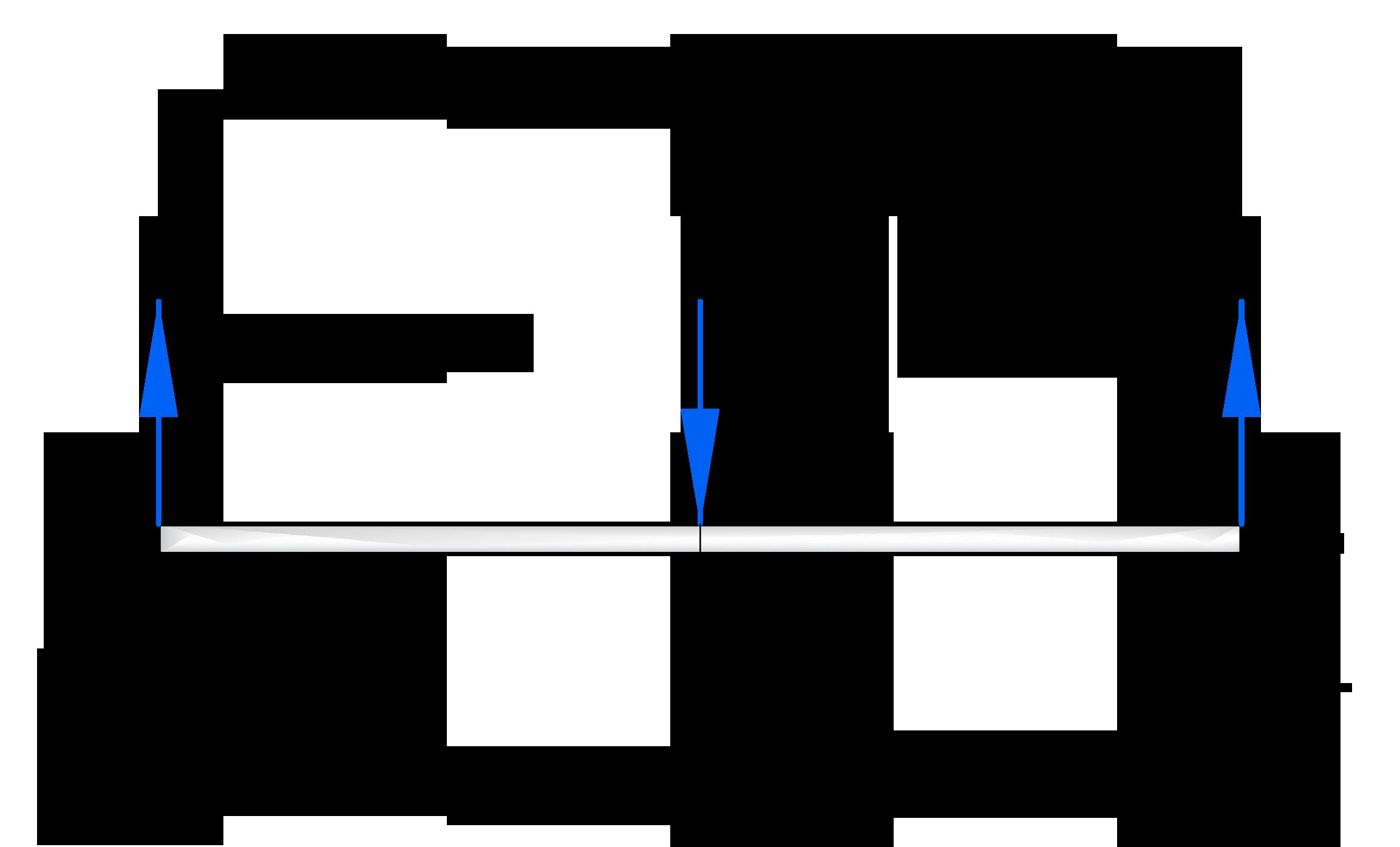 Разбивка балки на участки при построение эпюр