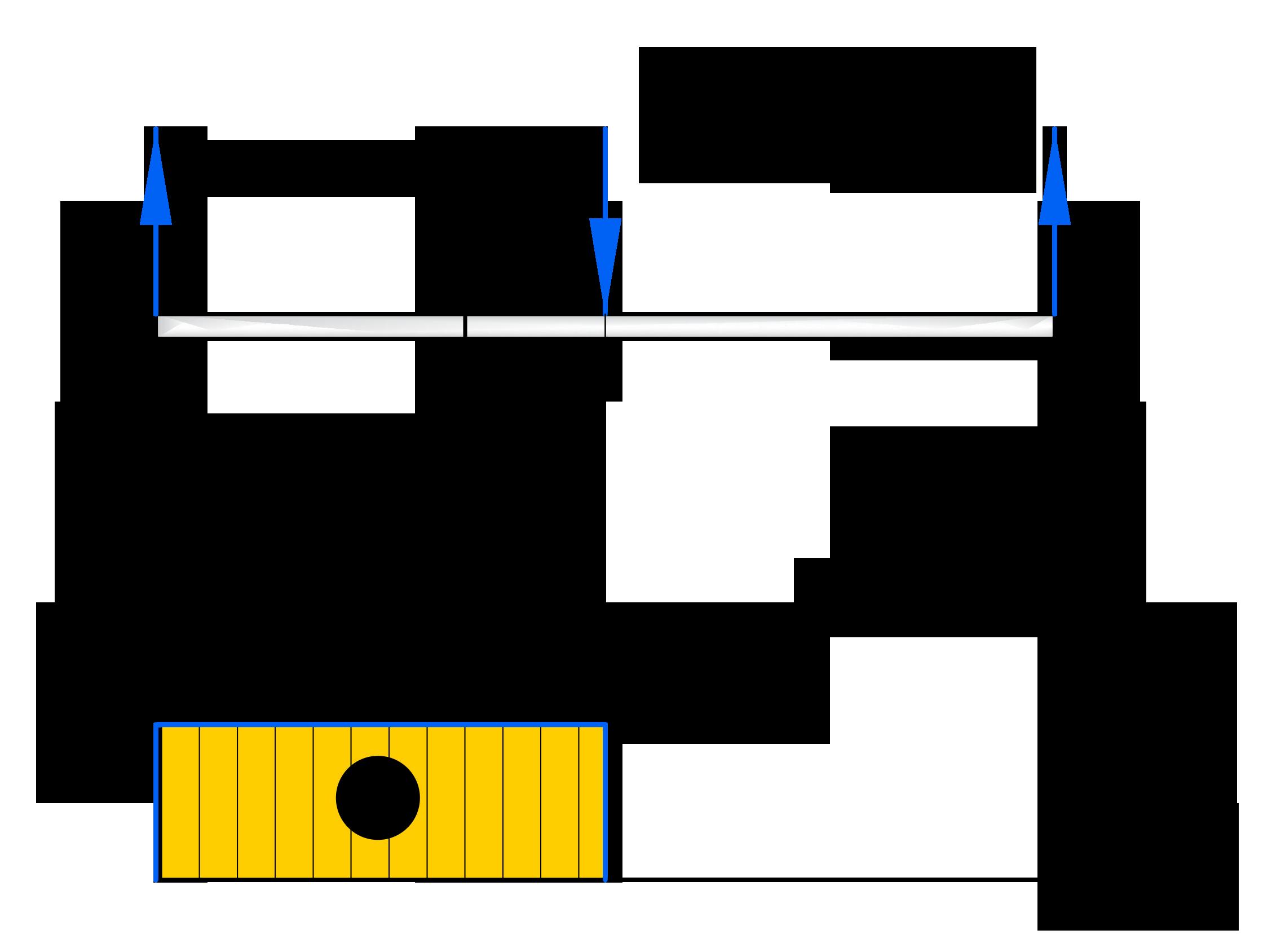 Построение эпюры поперечных сил на первом участке